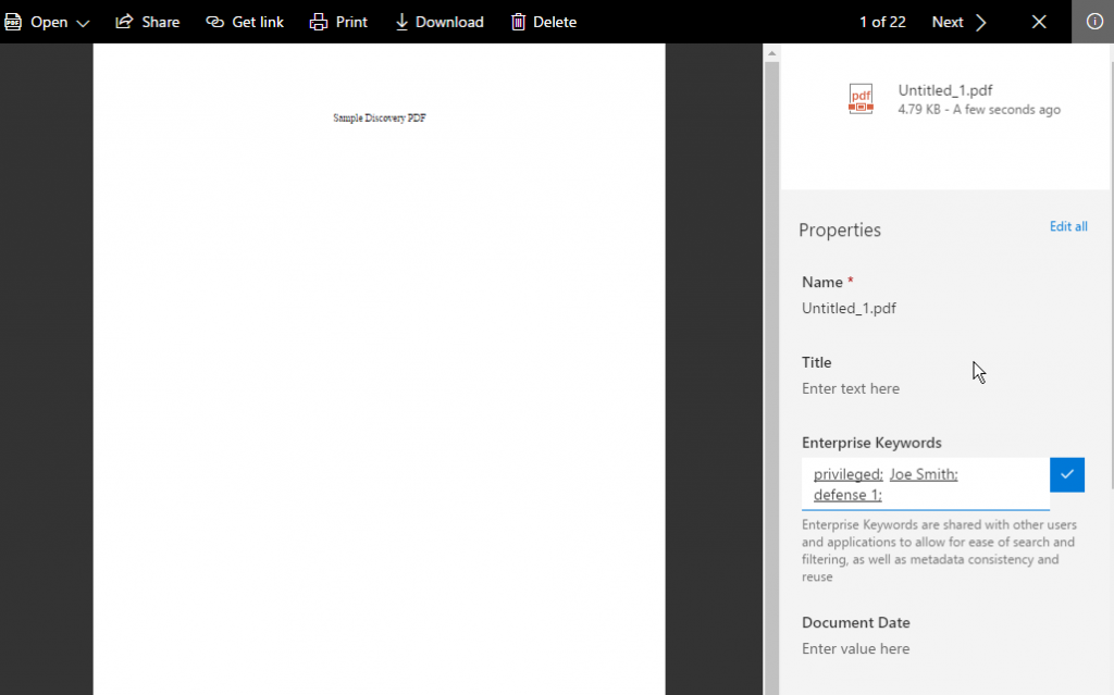 Using Office 365 SharePoint as a Litigation Support Tool