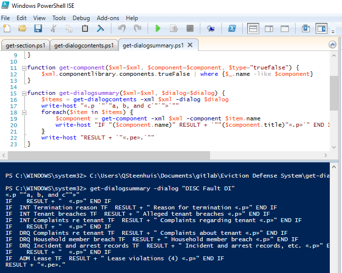 Using Powershell to manage large HotDocs interviews